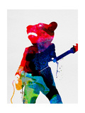 Teddybear Watercolor Prints by Lora Feldman
