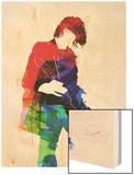 Kurt Watercolor Wood Print by Lora Feldman