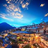Night View of Jiufen, Taiwan Photographic Print by  NicholasHan
