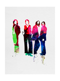 Beatles Watercolor Metal Print by Lora Feldman