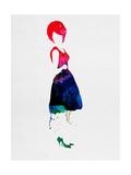 Diana Watercolor Prints by Lora Feldman
