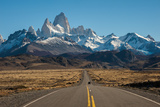 Road to El Chalten, Fitz Roy in Background Photographic Print by  ykumsri