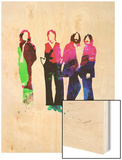 Beatles Watercolor Wood Print by Lora Feldman