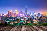 Night View of the City in Taiwan - Kaohsiung Photographic Print by  wayne_0216