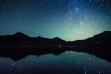 Milky Way Reflection at William's Lake,Colorado Photographic Print by  tharathepptl