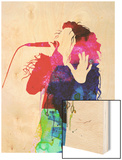 Lorde Watercolor Wood Print by Lora Feldman