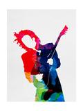 Prince Watercolor Alu-Dibond von Lora Feldman