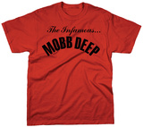 Mobb Deep - Infamous on Red Shirts