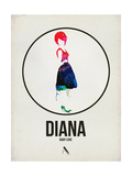 Diana Watercolor Poster by David Brodsky