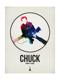 Chuck Watercolor Posters by David Brodsky