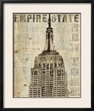Vintage NY Empire State Building Poster by Michael Mullan