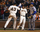 Apr 21, 2014, Los Angeles Dodgers vs San Francisco Giants - Justin Maxwell, Andrew Susac Photo by Jason O Watson