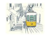 Lisbon Street Sketch Posters by  TashaNatasha