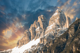 Dolomites, Italy. Terrific View of Alps Mountains with Colourful Photographic Print by  jovannig