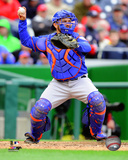 Travis d'Arnaud 2015 Action Photo