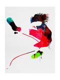 Eddie Watercolor Poster af Lora Feldman