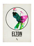 Elton Watercolor Posters by David Brodsky
