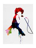 Tina Watercolor Giclee-tryk i høj kvalitet af Lora Feldman