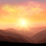 Sunrise in the Mountains Photographic Print by  Catwoman