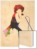 Tina Watercolor Wood Print by Lora Feldman