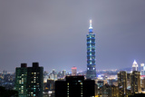 Night Scene of Taipei Photographic Print by zhu difeng
