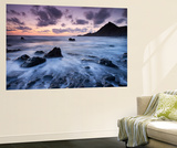 Dusk on the Rocky Shores of Speke's Mill Mouth in North Devon, England. Summer Wall Mural by Adam Burton