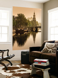 Netherlands, North Holland, Amsterdam. Montelbaan Tower at Oude Schans Wall Mural by Francesco Iacobelli