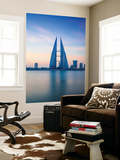 Bahrain, Manama, Bahrain Bay, View of Bahrain World Trade Center Wall Mural by Jane Sweeney