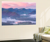 Misty Sunrise over Derwent Water and the Newlands Valley, Lake District, Cumbria Wall Mural by Adam Burton