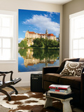 Sigmaringen Castle Reflected in the River Danube, Swabia, Baden Wurttemberg, Germany, Europe Wall Mural by Doug Pearson