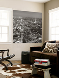 Night Aerial View of the Shard and City of London, London, England Wall Mural by Jon Arnold