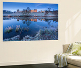 Alnwick Castle Reflected in the River Aln on a Frosty Winter Morning, Northumberland, England Wall Mural by Adam Burton