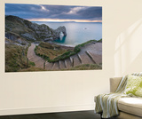Winding Coastpath Steps Leading Down to Durdle Door on the Jurassic Coast, Dorset, England Wall Mural by Adam Burton