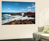 Cliffs, Los Hervideros, Lanzarote, Canary Islands, Spain Wall Mural by Sabine Lubenow