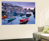 Sunrise over the Picturesque Harbour at Mevagissey, Cornwall, England. Spring Wall Mural by Adam Burton