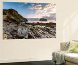 Spain, Basque Country, San Juan De Gaztelugatxe. Rocky Beach Near the Islet, at Sunrise Wall Mural by Matteo Colombo