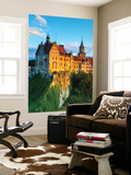 Elevated View Towards Sigmaringen Castle Illuminated at Sunset Wall Mural by Doug Pearson