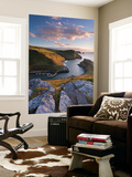 Boscastle Harbour from the Coast Path, Cornwall, England. Summer (August) Wall Mural by Adam Burton