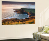 Storm Light Illuminates Chapmans Pool and Houns Tout Cliff, Viewed from St Aldhelm's Head, Dorset Wall Mural by Adam Burton