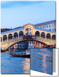 Italy, Venice. Grand Canal and Rialto Bridge Poster by Matteo Colombo