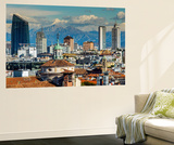 City Skyline with the Alps in the Background, Milan, Lombardy, Italy Wall Mural by Stefano Politi Markovina