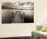 Wooden Jetty on Derwent Water in the Lake District, Cumbria, England. Autumn Wall Mural by Adam Burton
