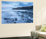 Incoming Tide at Kilve Beach in Somerset, England. Winter (January) Wall Mural by Adam Burton