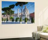 Ian Trower - Trajan's Column in Trajan's Forum and Church of Santa Maria Di Loreto, Rome, Lazio Nástěnný výjev