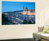 View of Urbino (Unesco World Heritage Site) at Dusk, Le Marche, Italy Wall Mural by Ian Trower