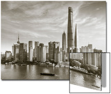 Shanghai Tower and the Pudong Skyline across the Huangpu River, Shanghai, China Print by Jon Arnold