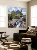 UK, Scotland, Highland, Glen Coe, River Coupall, Coupall Falls and Buachaille Etive Mor Wall Mural by Alan Copson