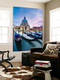 Italy, Veneto, Venice. Santa Maria Della Salute Church on the Grand Canal, at Sunset Wall Mural by Matteo Colombo