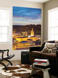 View of Spoleto at Dusk, Umbria, Italy Wall Mural by Ian Trower