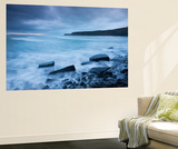 Stormy Sunset at Kimmeridge Bay on the Jurassic Coast, Dorset, England. Winter Wall Mural by Adam Burton